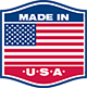Made in USA logo with a flag icon